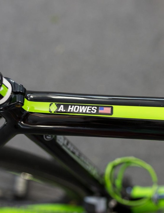 There's no mistaking who this bike belongs to