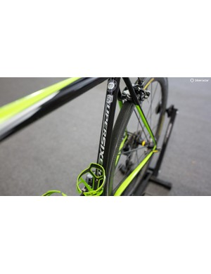Howes rides a size 54 frame