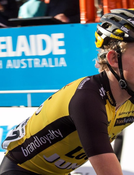 Koen Bouwman and the rest of the LottoNL-Jumbo team had a big hand in designing the kit
