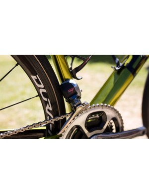 The Di2 front derailleur is bulky, but super reliable
