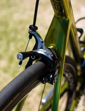 Stopping power is provided by Dura Ace R9000 calipers