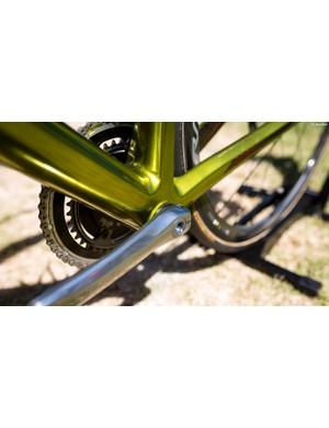 The SLR01's bottom bracket is bulky