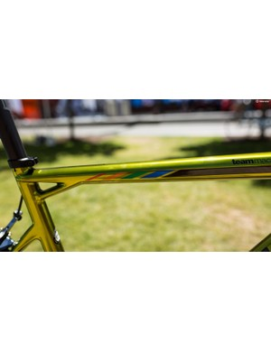 BMC incorporated the colours of the Olympic rings along the top tube