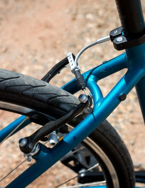 Linear pull V-brakes keep your speed in check