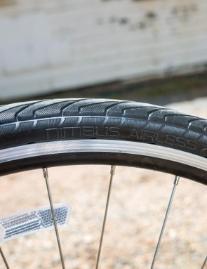 The Nimbus tyre is actually a Tannus Aither 1.1 with a Nimbus tread pattern