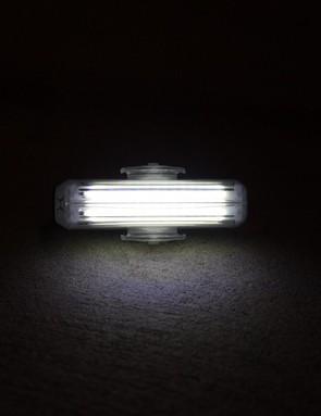 Cateye's Rapid X3 flight light utilises dual independent strip LEDs