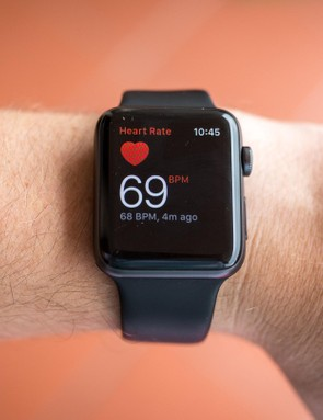 The wrist-based HR takes a reading pretty quick through the heart rate app