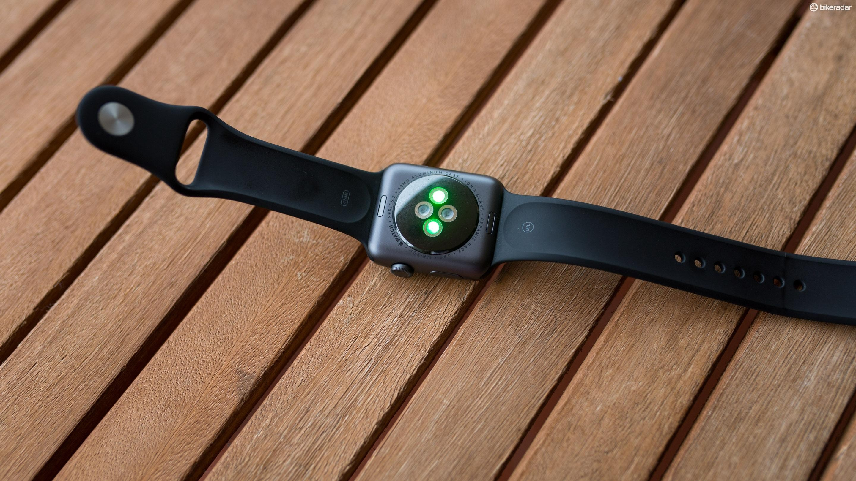 The Series 2 Watch gets the same two-LED sensor as the previous version