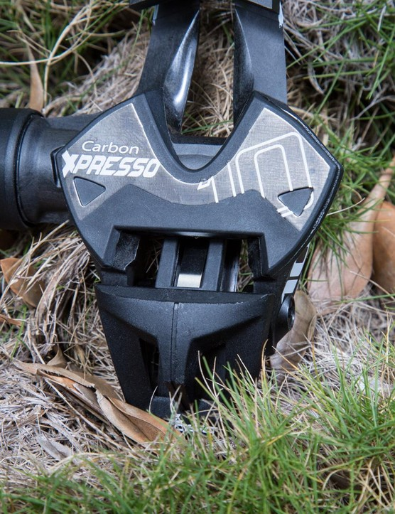 The Xpressos' have a replaceable steel plate to prevent the pedal body from wearing