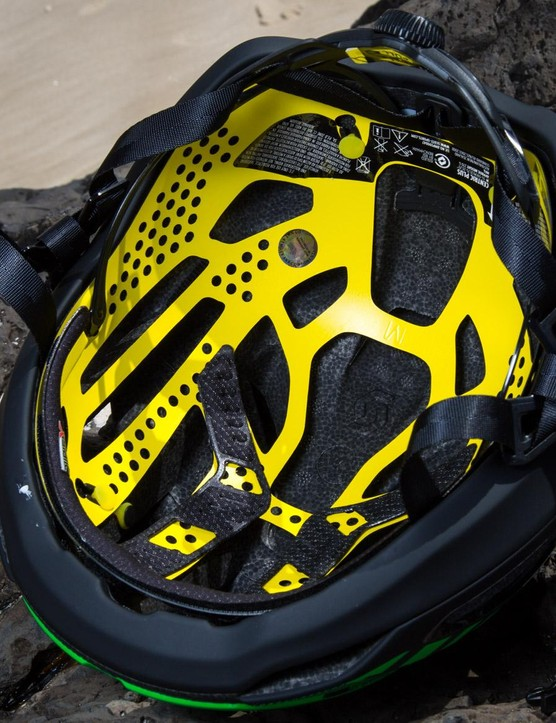 The perforated Scott Air MIPS liner is exclusive to the brand for the time being