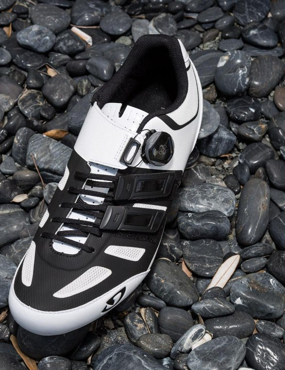 Giro says its Techlace system provides a more supple feel across the forefoot, while also allowing for on-the-fly adjustments