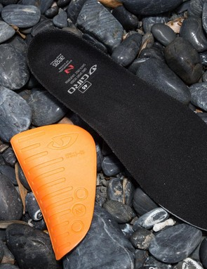 Included with the shoes are Giro's Super Natural insoles