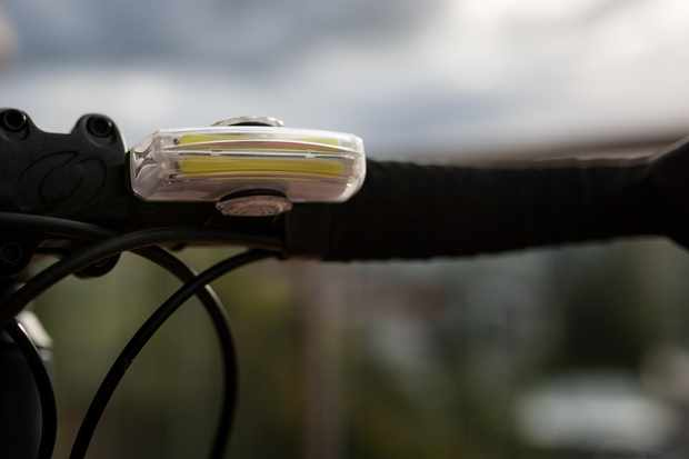 When mounted on your bars the light may dazzle you if you're not using the included shield
