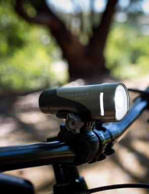 Blackburn's Central 700 front light utilises a GoPro style mounting system