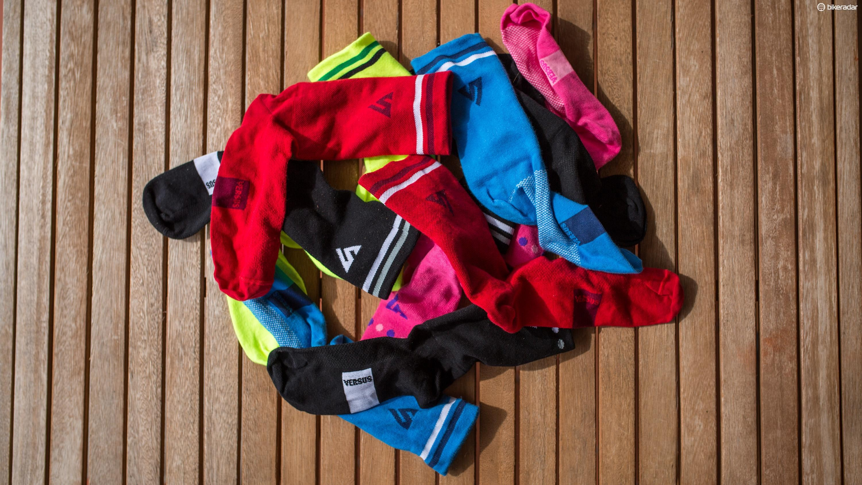 Versus Race socks are lightweight, comfy and most of all, tall