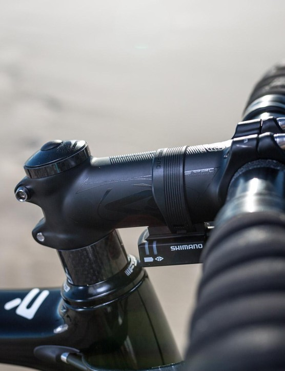 The 100mm 4ZA stem is stiff and light, though it may get swapped for something a touch longer