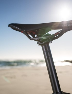 Ridley Australia specs the Helium with a zero set-back seatpost