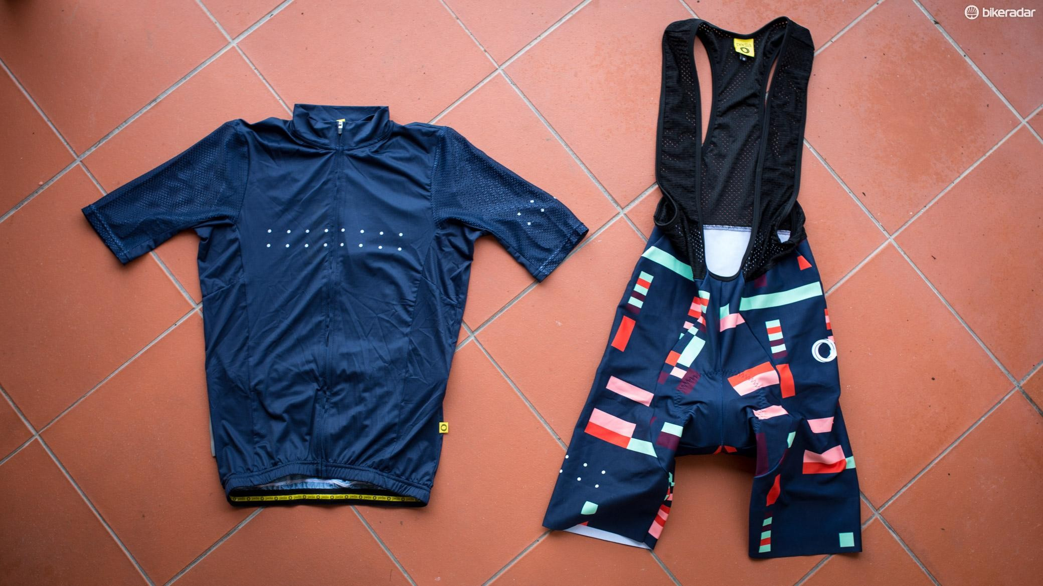 Pedla's new Full Gas LunaAIR jersey and SuperFIT G+ bibshorts