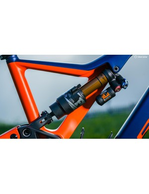 The superbly performing Fox Float X2 air shock comes as standard on the M-Team build