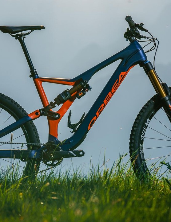 The all-new Orbea Rallon M-Team is a 150mm rear travel, 29 inch wheeled, ready to race enduro bike