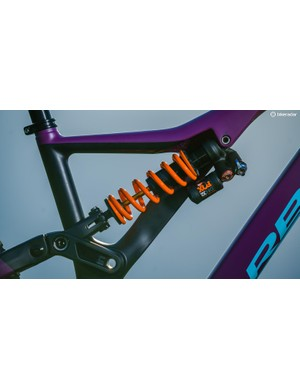 The Fox DHX2 coil shock is spec'd on the M-LTD bike, but it's available as an upgrade on the other two models