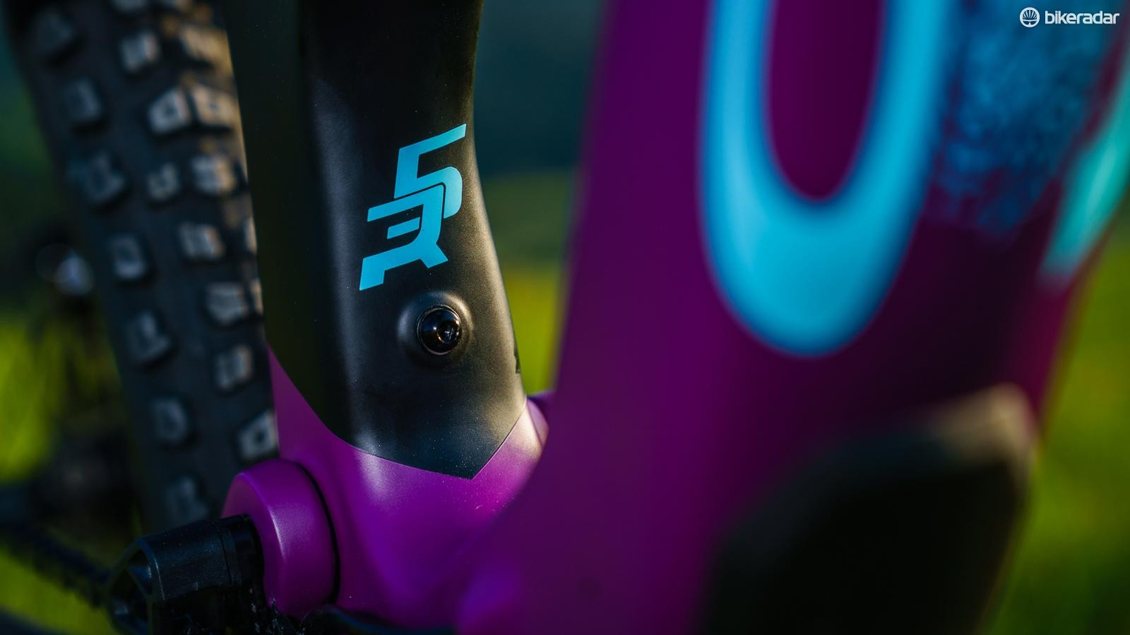 This bolt on the seat tube secures a specially designed tool pouch, right above the BB, keeping extra weight as low as possible