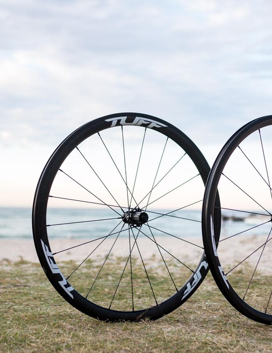 Tuff Cycle's Exo Carbon clinchers are light weight, low profile, and tubeless ready