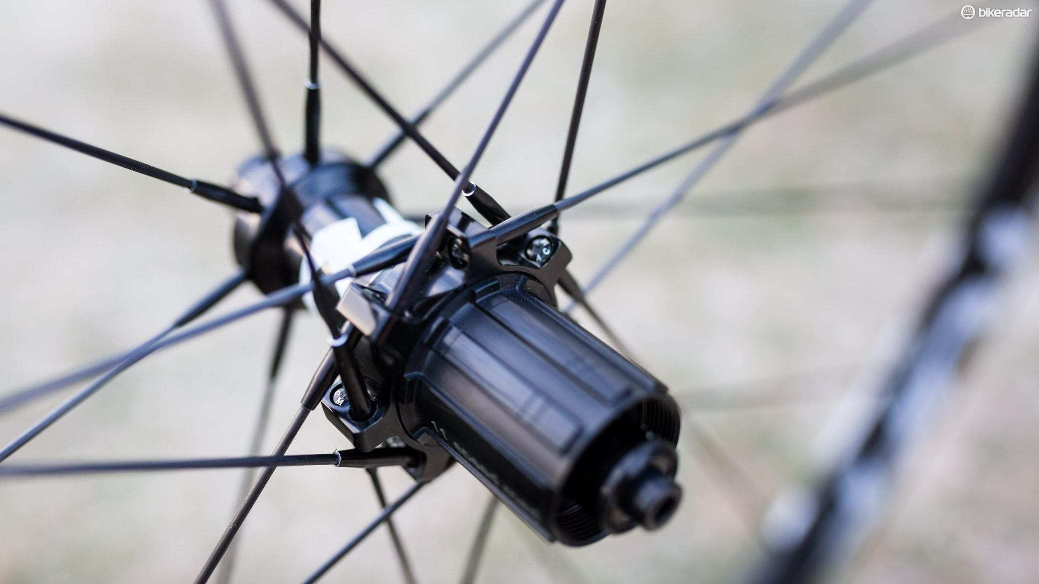 The Carbon Matrix Spokes are straight pull, but also see a proprietary spoke head, meaning they also need a proprietary hub flange