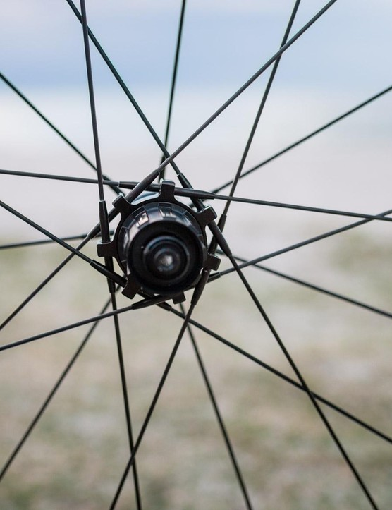 Although Tuff cycle has assured me its carbon spokes are tough, putting them on the drive side of the rear wheel just doesn't feel right