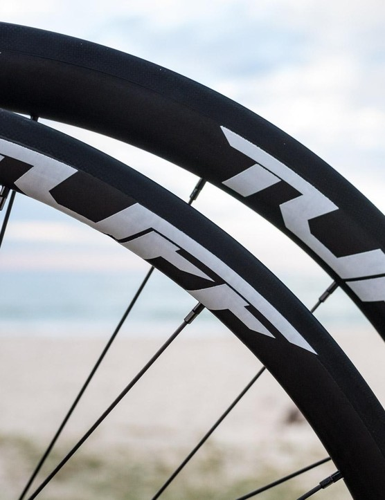 Business in the front, party in the back, the EXO wheels see a 30mm rim at the front and a 38 at the back