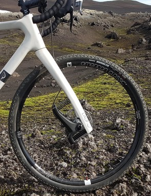 The Grit fork launched Lauf's notoriety in the gravel scene; it has been refined on the True Grit