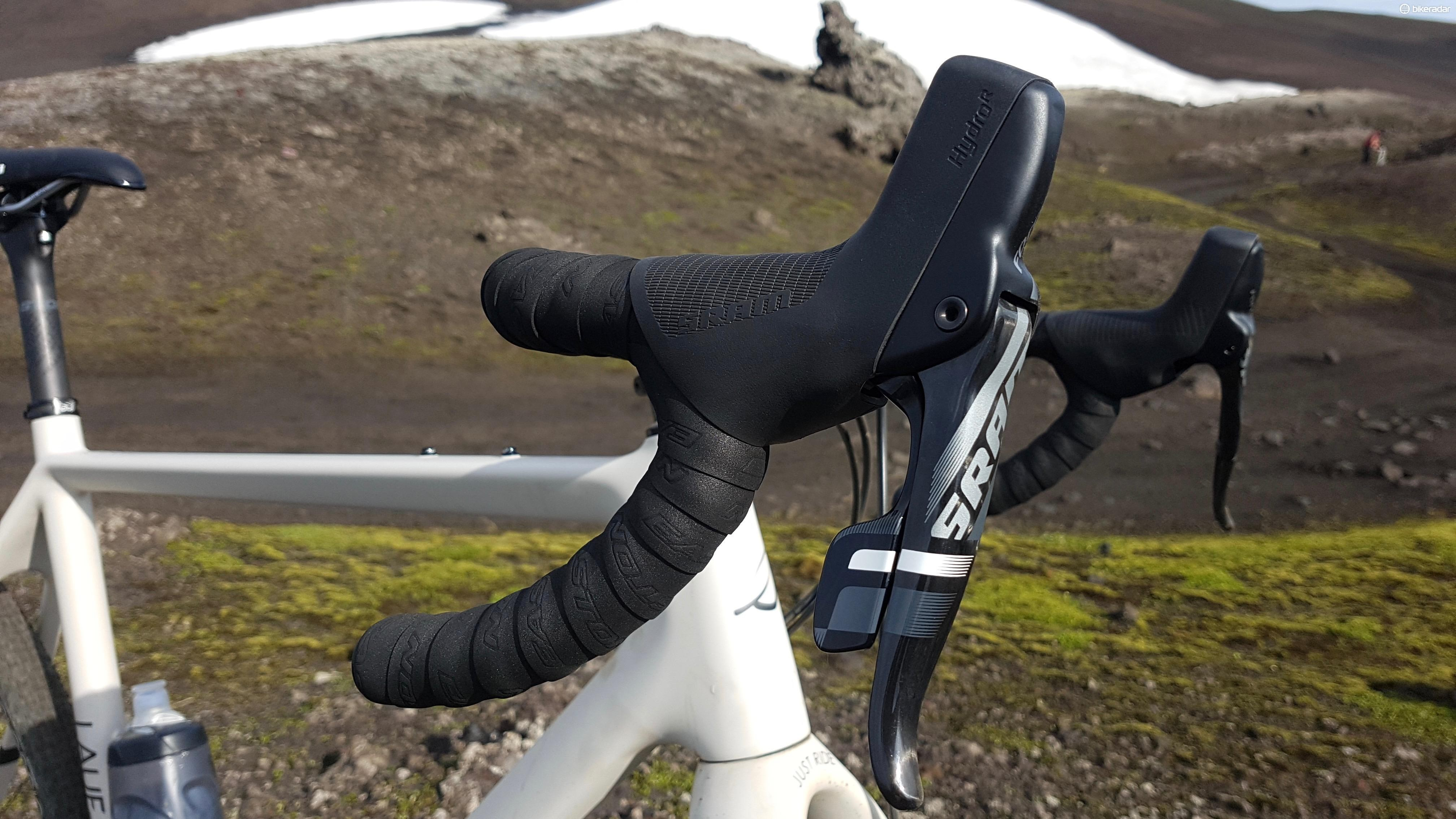 SRAM's hydro brakes proved reliable during the test