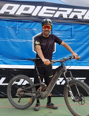 The man himself, looking rather happy with his bike!