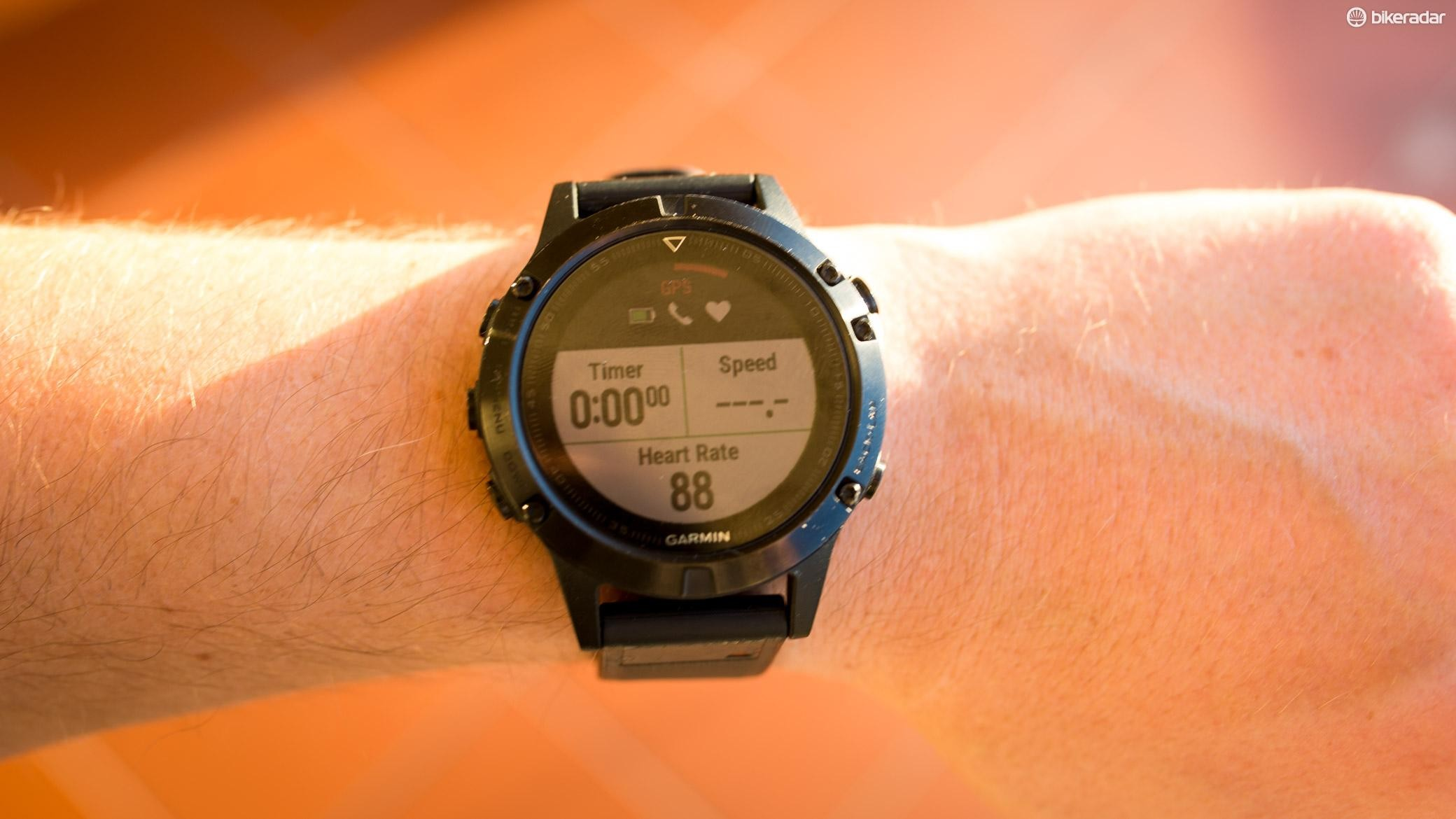 In an activity mode, the watch can display up to 19 pages of four metrics