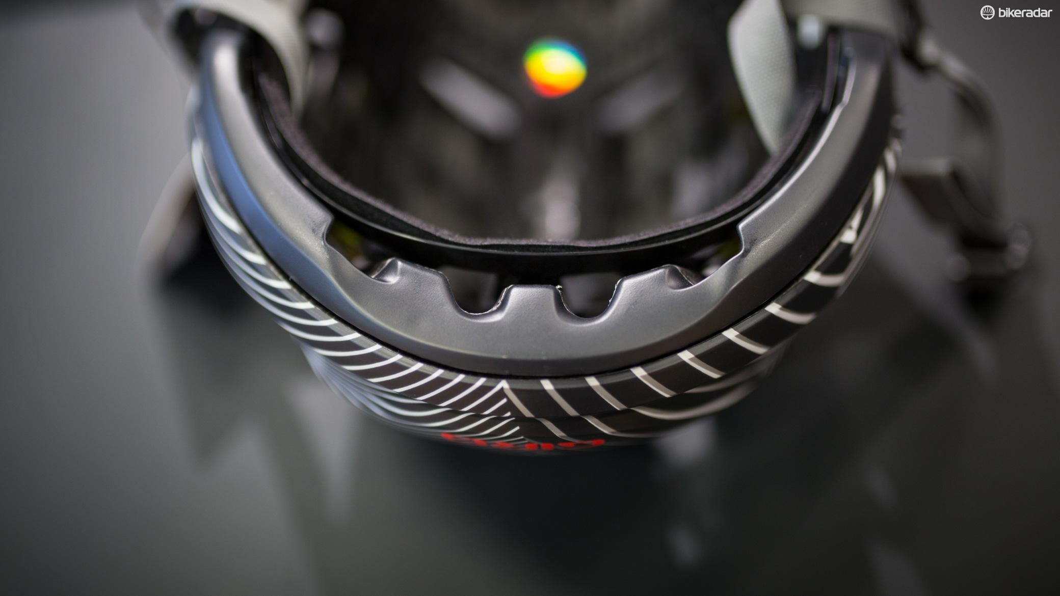 The MIPS liner is integrated into Giro's RocLoc 3 retention system, and it sits off the head for better ventilation