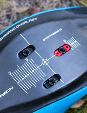 Like the S-Phyre there is a removable chip which allows for additional cleat mounting options