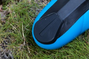 Unfortunately, the heel pad is not replaceable, but it's showing zero signs of wear after a few months riding