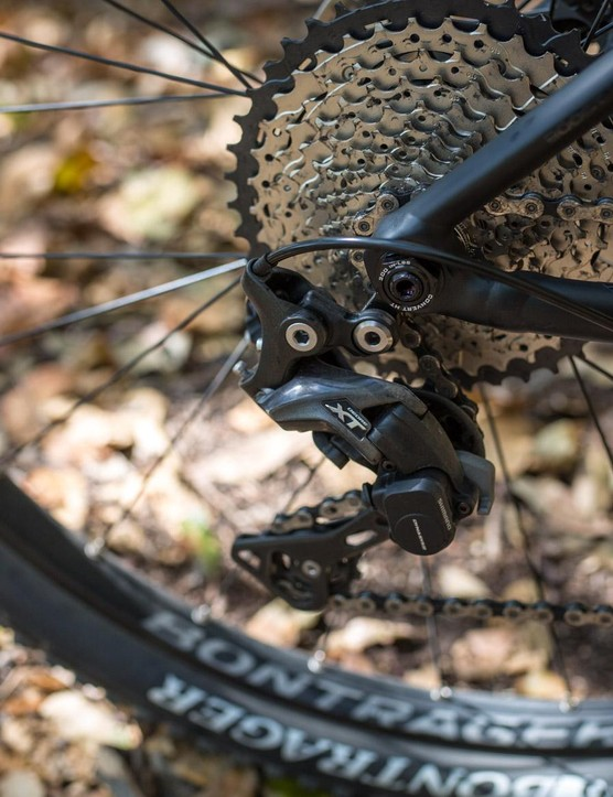 And 11-speed Deore XT derailleur at the back
