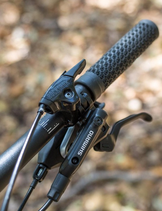 The RockShox Reba fork gets a bar-mounted lockout