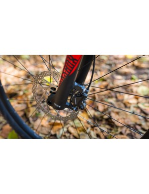 The Shimano MT5000 brake set offers consistent braking with plenty of power and modulation on tap