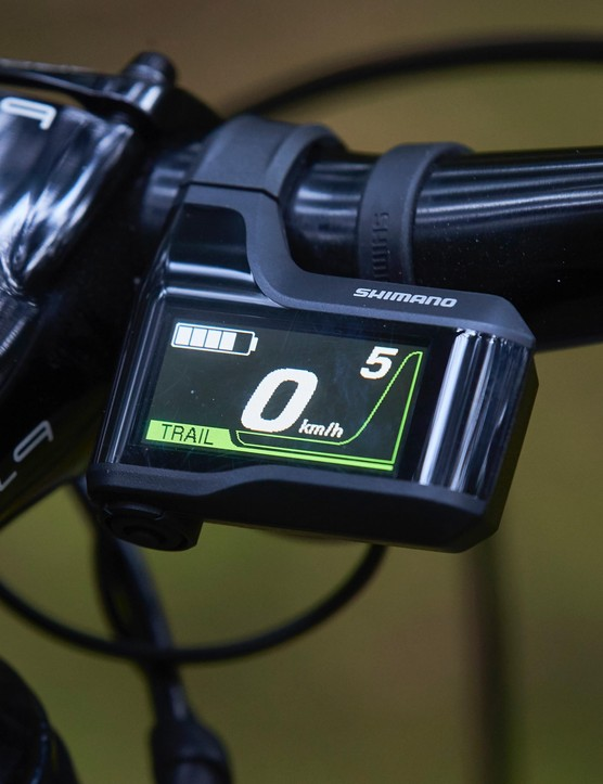 Shimano's display is clear and simple to use — I really like it