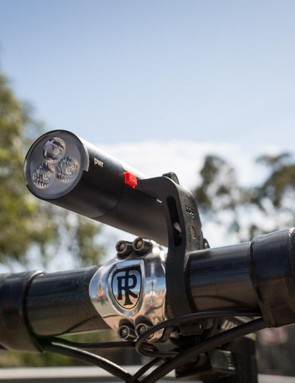 The mount is offest so it will sit in line with your stem