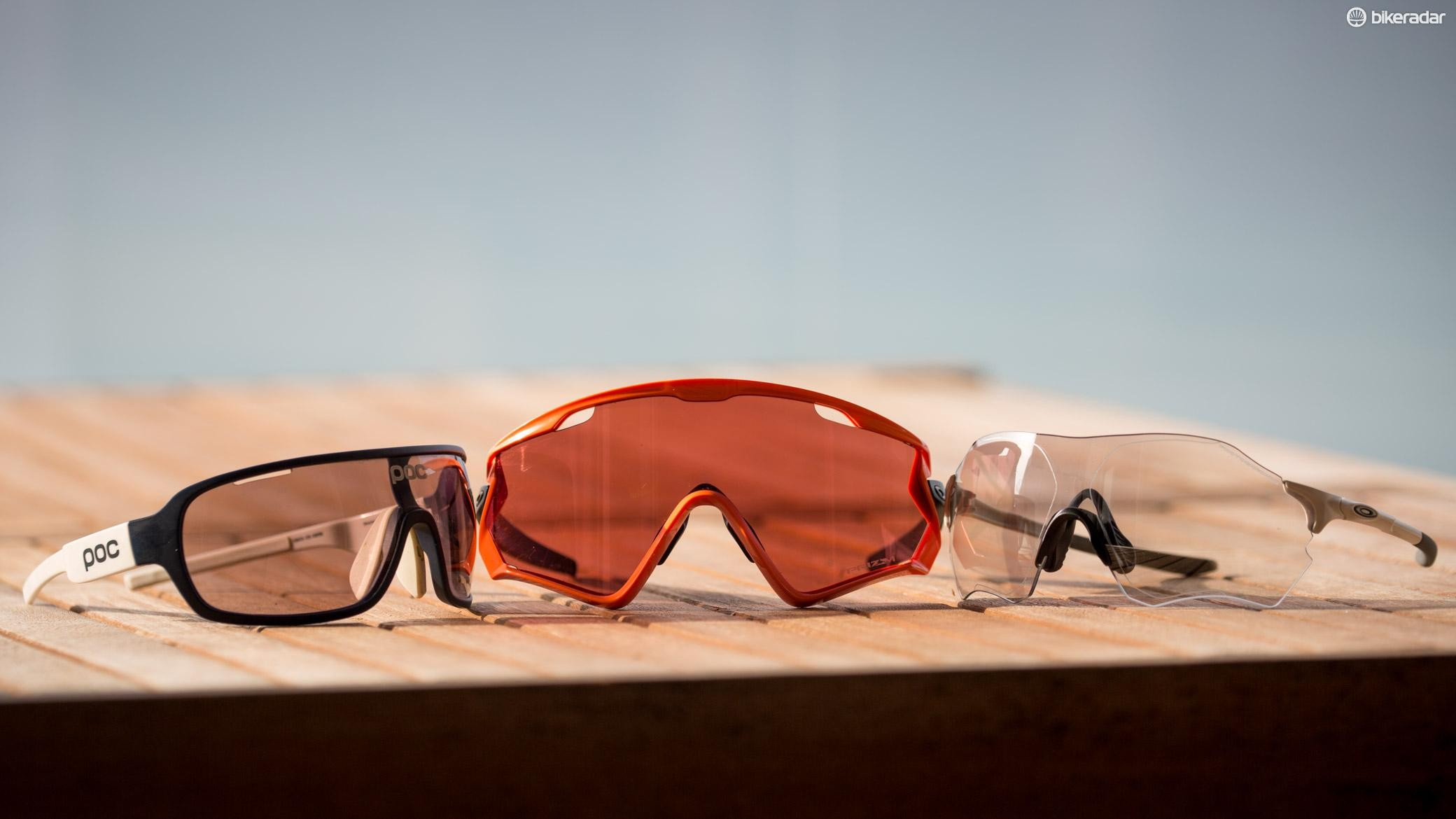 b08d3a28af2 The Windjackets dwarf the POC DO Blades (left) and Oakley EV Zero Path (