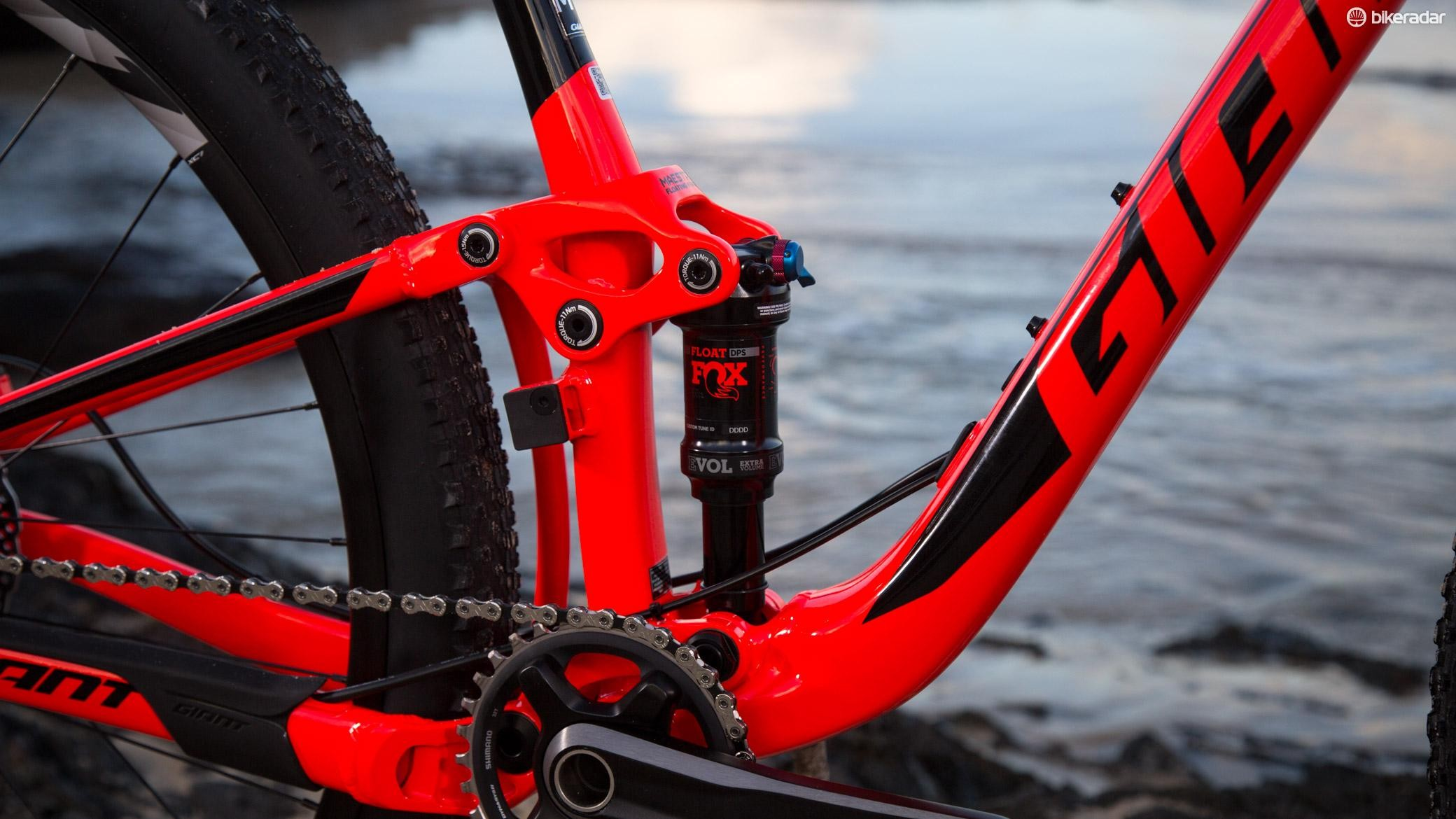 Giant reduced the rear travel to 90mm, aiming for quality over quantity