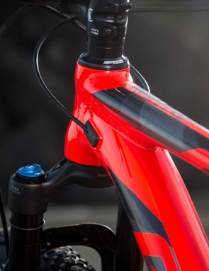 The head tube is a stumpy 95mm in a size medium