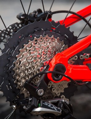 The 46-11t doesn't quite offer the bailout 50t gear of its SRAM counterpart but there is still plenty of range on offer