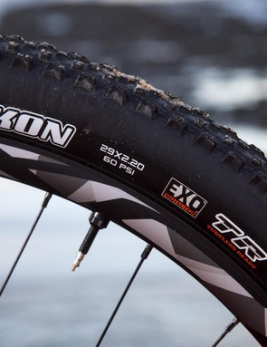 The Anthem 29er 2 rolls on Maxxis 2.2in Ikon rubber