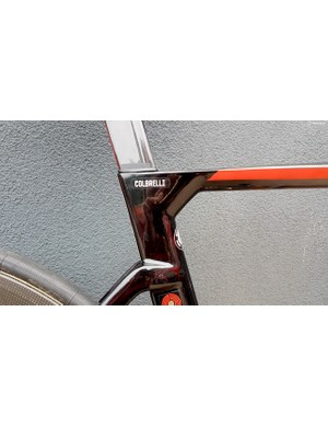 The angular seat cluster is a popular design for aero bikes