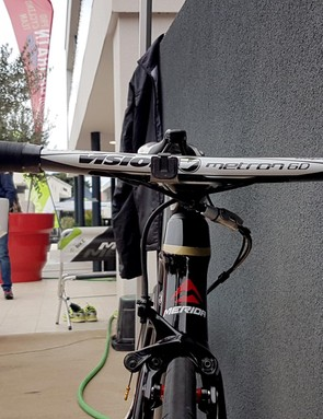 The Italian sprinter opts for Vision Metron 6D integrated handlebars