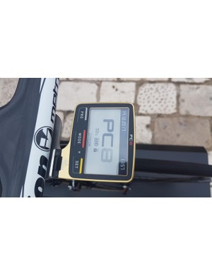Bahrain-Merida bikes are all equipped with gold SRM PC-8 head units